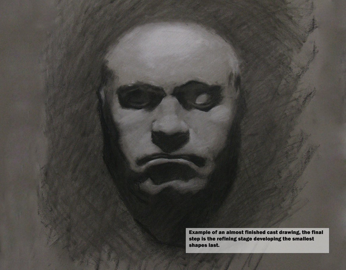beethoven death mask drawing, proportion, blockin, development, classical art tuition, stepbystep